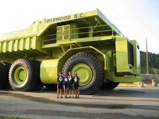 Day two in Sparwood, B.C., just before the start. Worlds Largest Truck ...